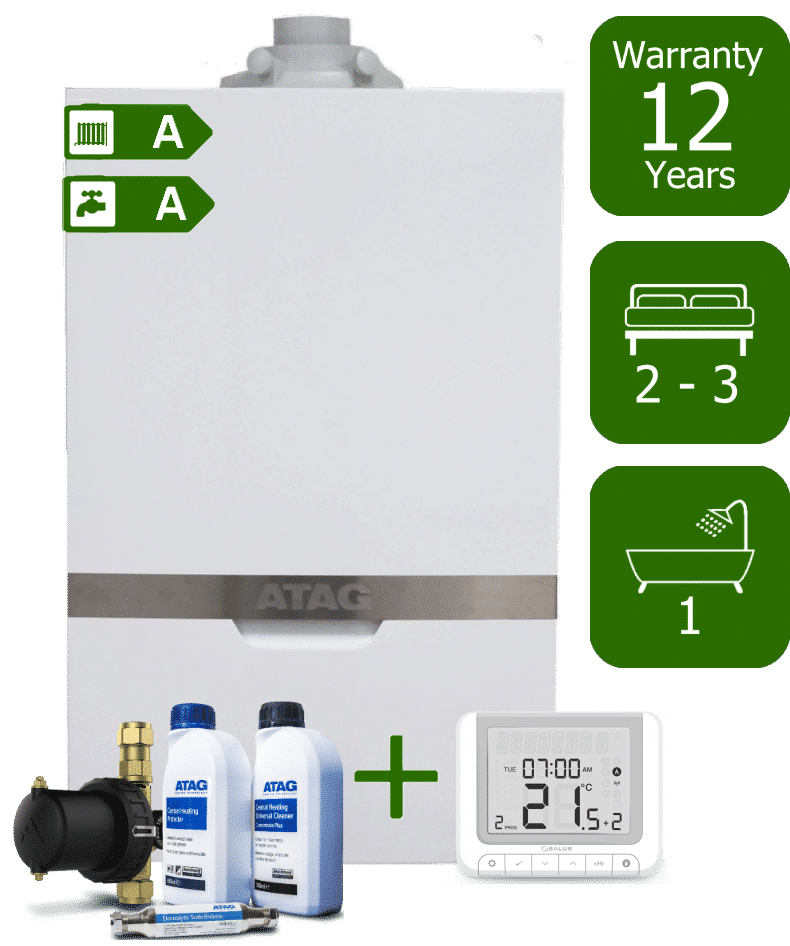 Atag iC 28kW Combi Boiler with Atag Comfort Pack and Salus RT520 Wireless Programmable Room Thermostat