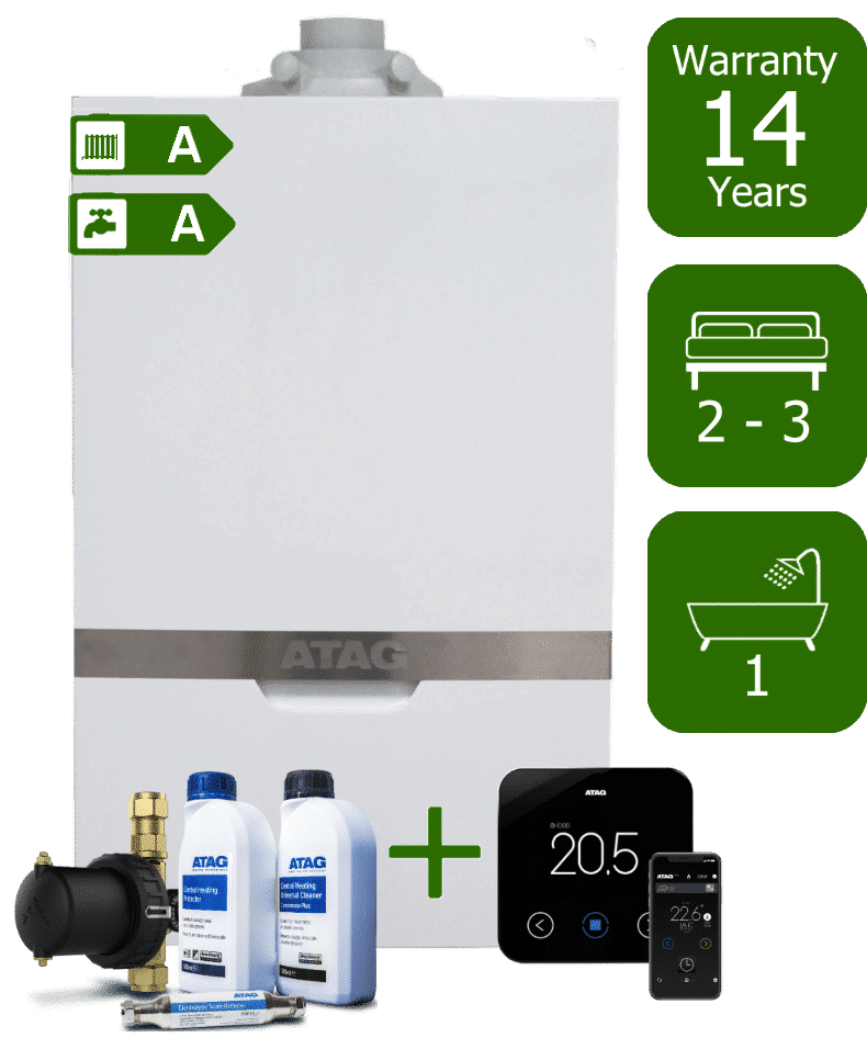 Atag iC Economiser 27kW Combi Boiler with Atag Comfort Pack and Atag One Wireless Programmable Room Thermostat