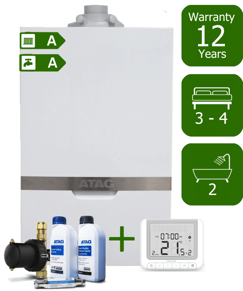 Atag iC 36kW Combi Boiler with Atag Comfort Pack and Salus RT520 Wireless Programmable Room Thermostat