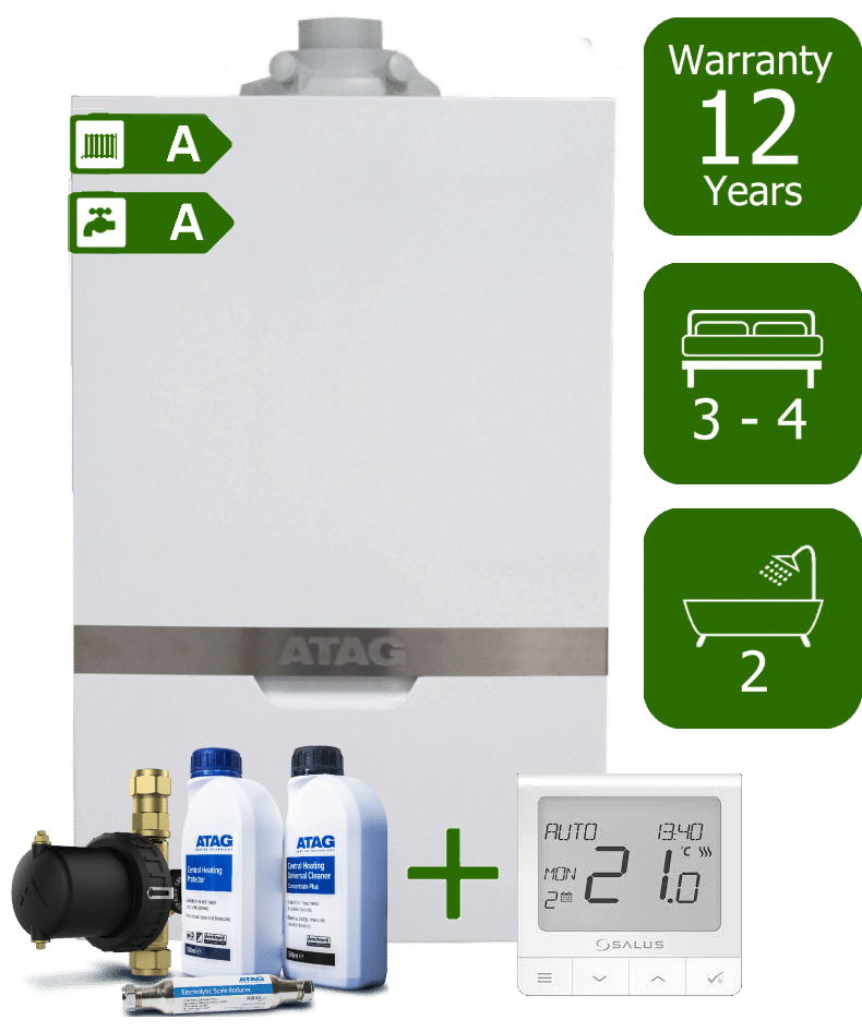 Atag iC 36kW Combi Boiler with Atag Comfort Pack and Salus Quantum wireless programmable thermostat