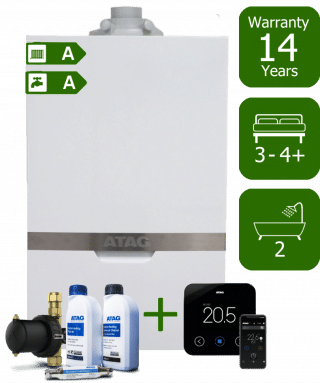Atag iC Economiser 35kW Combi Boiler with Atag Comfort Pack and Atag One Wireless Programmable Room Thermostat