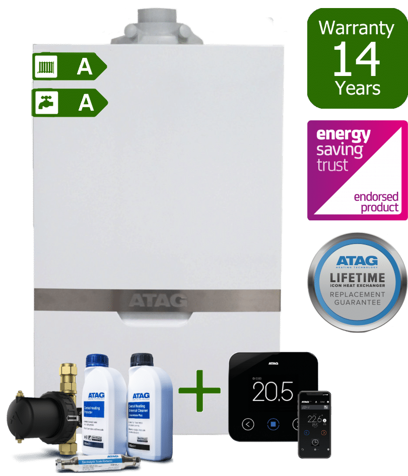 Atag iC Combi Boiler with Atag Comfort Pack and Atag One wireless programmable room thermostat