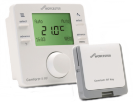 Worcester Bosch Comfort+ II RF Wireless Programmable Room Thermostat